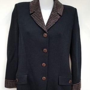 St. John knitted black blazer